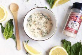 Lemon Basil Garlic Salt Rub