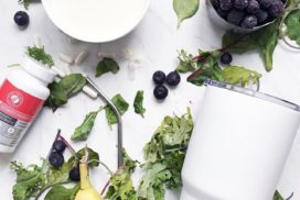 Blueberry Banana Antioxidant Probiotic Shake