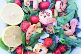 Lemon Grilled Shrimp Salad